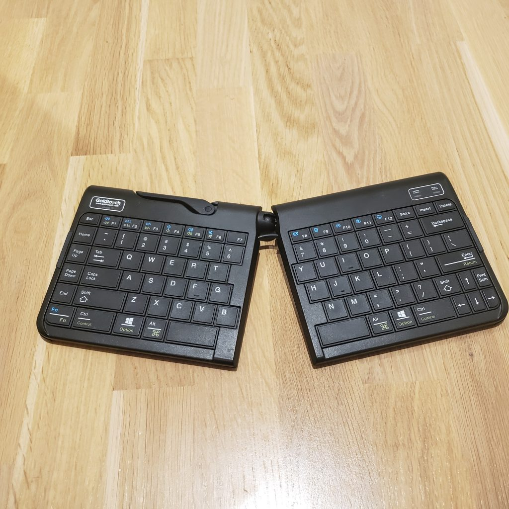 flat split travel keyboard